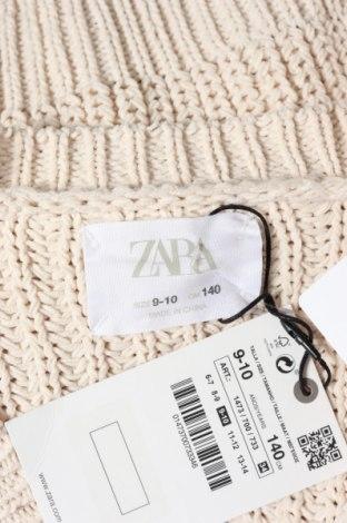 Pulover cu nasturi pentru copii Zara, Mărime 9-10y/ 140-146 cm, Culoare Bej, 100% poliester, Preț 120,89 Lei