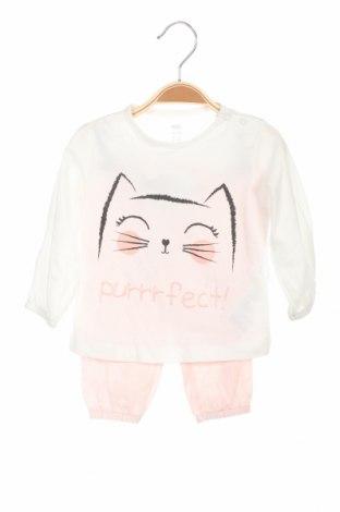 Детска пижама Mo, Размер 6-9m/ 68-74 см, Цвят Бял, Памук, Цена 20,16лв.