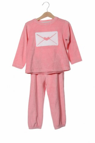 Детска пижама ZY kids, Размер 18-24m/ 86-98 см, Цвят Розов, 73% памук, 27% полиестер, Цена 30,87лв.