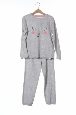 Детска пижама ZY kids, Размер 5-6y/ 116-122 см, Цвят Сив, 73% памук, 27% полиестер, Цена 30,87лв.