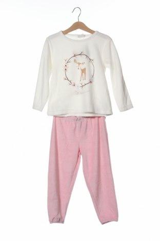 Детска пижама ZY kids, Размер 2-3y/ 98-104 см, Цвят Бял, 76% памук, 24% полиестер, Цена 30,87лв.