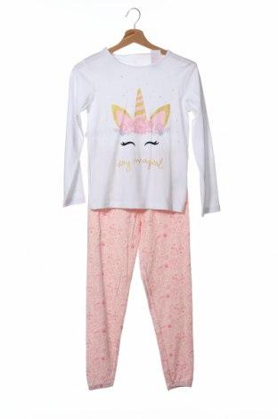 Детска пижама ZY kids, Размер 7-8y/ 128-134 см, Цвят Бял, Памук, Цена 30,87лв.