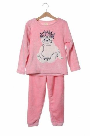 Детска пижама ZY kids, Размер 4-5y/ 110-116 см, Цвят Розов, Полиестер, Цена 30,87лв.