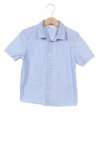 Детска риза H&M, Размер 7-8y/ 128-134 см, Цвят Син, Памук, Цена 16,50лв.
