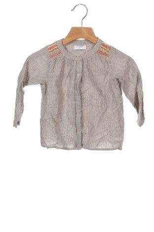 Παιδικό πουκάμισο Mango, Μέγεθος 12-18m/ 80-86 εκ., Χρώμα  Μπέζ, 100% βαμβάκι, Τιμή 10,21€