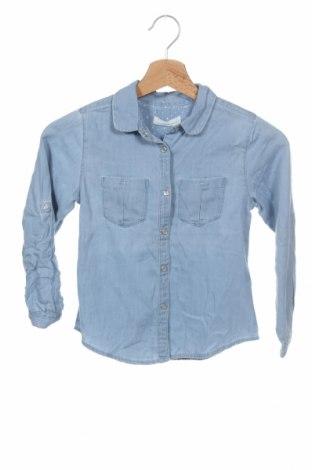 Детска риза ZY kids, Размер 6-7y/ 122-128 см, Цвят Син, Памук, Цена 26,46лв.
