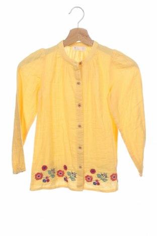 Παιδικό πουκάμισο ZY kids, Μέγεθος 8-9y/ 134-140 εκ., Χρώμα Κίτρινο, Βαμβάκι, Τιμή 15,59€