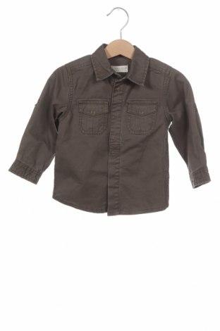 Детска риза ZY kids, Размер 9-12m/ 74-80 см, Цвят Зелен, Памук, Цена 26,46лв.