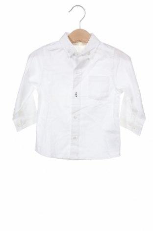 Детска риза ZY kids, Размер 9-12m/ 74-80 см, Цвят Бял, Памук, Цена 24,57лв.