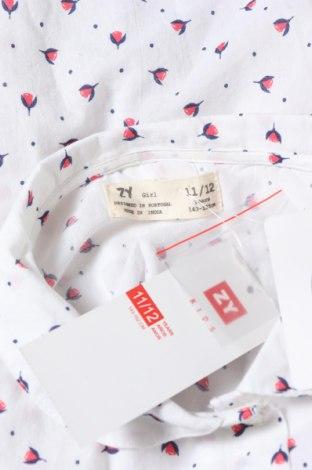 Παιδικό πουκάμισο ZY kids, Μέγεθος 10-11y/ 146-152 εκ., Χρώμα Λευκό, Βαμβάκι, Τιμή 9,80€