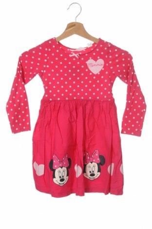 Детска рокля H&M, Размер 4-5y/ 110-116 см, Цвят Розов, 95% памук, 5% еластан, Цена 21,00лв.