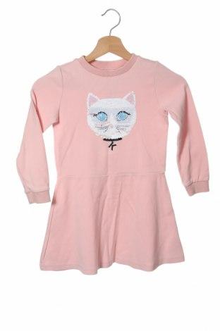 Παιδικό φόρεμα Karl Lagerfeld, Μέγεθος 4-5y/ 110-116 εκ., Χρώμα Ρόζ , 92% βαμβάκι, 8% ελαστάνη, Τιμή 35,38€