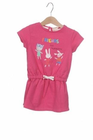Dětské šaty  ZY kids, Velikost 9-12m/ 74-80 cm, Barva Růžová, 78% bavlna, 22% polyester, Cena  134,00Kč