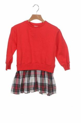 Детска рокля ZY kids, Размер 3-4y/ 104-110 см, Цвят Червен, 88% памук, 12% полиестер, Цена 49,00лв.
