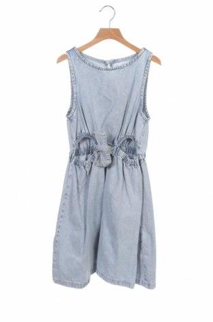 Rochie pentru copii Zara, Mărime 13-14y/ 164-168 cm, Culoare Albastru, Bumbac, Preț 66,31 Lei