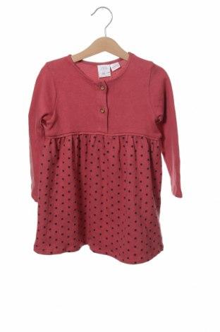 Dětské šaty  Zara, Velikost 2-3y/ 98-104 cm, Barva Růžová, 98% bavlna, 2% elastan, Cena  320,00Kč