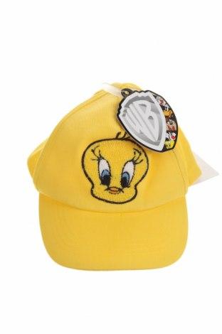 Детска шапка Looney Tunes, Цвят Жълт, Памук, Цена 7,98лв.