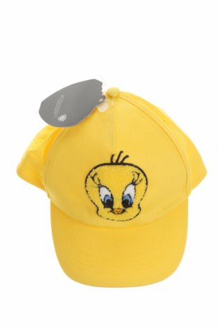 Детска шапка Looney Tunes, Цвят Жълт, Памук, Цена 7,82лв.