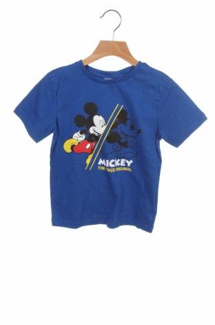 Детска тениска Disney, Размер 5-6y/ 116-122 см, Цвят Син, Памук, Цена 19,50лв.