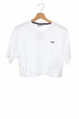 Детска тениска Fila, Размер 12-13y/ 158-164 см, Цвят Бял, Памук, Цена 16,00лв.