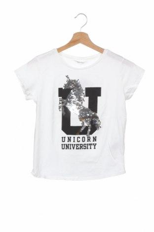 Tricou pentru copii H&M, Mărime 14-15y/ 168-170 cm, Culoare Alb, Bumbac, Preț 54,28 Lei