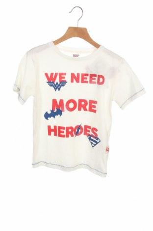 Детска тениска Justice League, Размер 5-6y/ 116-122 см, Цвят Бял, Памук, Цена 19,50лв.