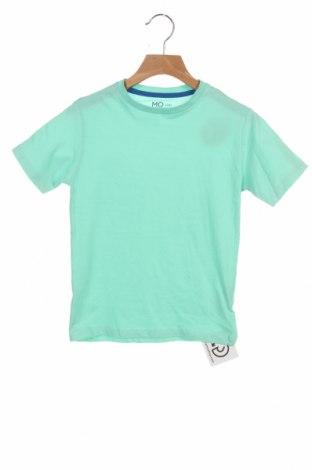 Детска тениска Mo, Размер 5-6y/ 116-122 см, Цвят Зелен, Памук, Цена 10,40лв.