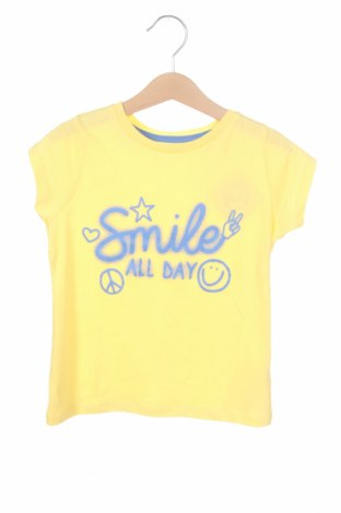Детска тениска Mo, Размер 4-5y/ 110-116 см, Цвят Жълт, Памук, Цена 19,50лв.