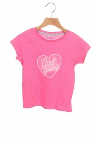 Детска тениска Mo, Размер 4-5y/ 110-116 см, Цвят Розов, Памук, Цена 19,50лв.
