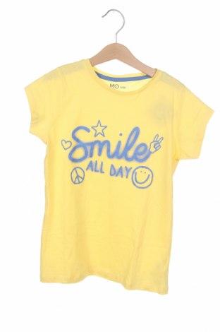 Детска тениска Mo, Размер 8-9y/ 134-140 см, Цвят Жълт, Памук, Цена 9,60лв.