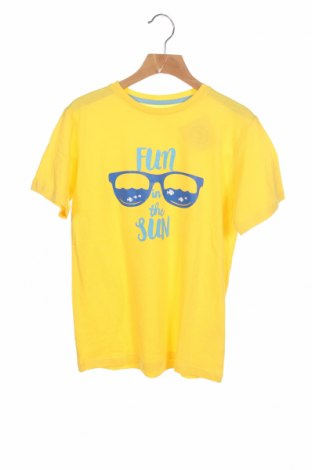 Детска тениска Mo, Размер 7-8y/ 128-134 см, Цвят Жълт, Памук, Цена 9,60лв.