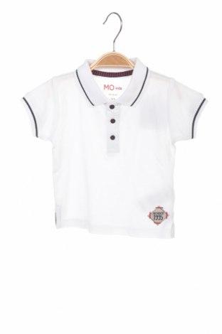 Детска тениска Mo, Размер 6-9m/ 68-74 см, Цвят Бял, Памук, Цена 19,50лв.