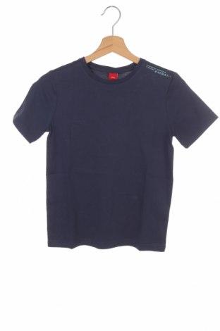 Детска тениска S.Oliver, Размер 9-10y/ 140-146 см, Цвят Син, Памук, Цена 24,00лв.
