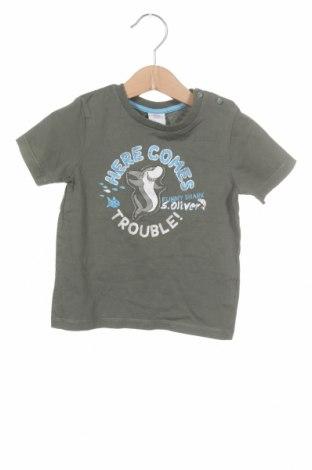 Tricou pentru copii S.Oliver, Mărime 12-18m/ 80-86 cm, Culoare Verde, Bumbac, Preț 54,28 Lei