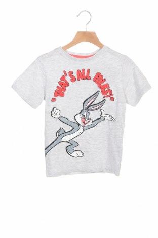 Παιδικό μπλουζάκι ZY kids, Μέγεθος 5-6y/ 116-122 εκ., Χρώμα Γκρί, 98% βαμβάκι, 2% βισκόζη, Τιμή 7,37€