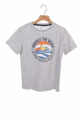 Детска тениска ZY kids, Размер 5-6y/ 116-122 см, Цвят Сив, 95% памук, 5% вискоза, Цена 10,40лв.