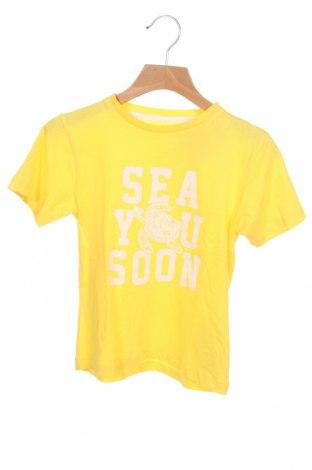 Детска тениска ZY kids, Размер 3-4y/ 104-110 см, Цвят Жълт, Памук, Цена 10,40лв.