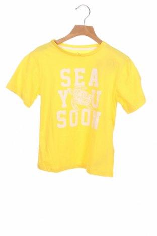 Детска тениска ZY kids, Размер 6-7y/ 122-128 см, Цвят Жълт, Памук, Цена 19,50лв.
