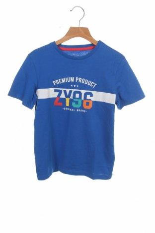 Детска тениска ZY kids, Размер 6-7y/ 122-128 см, Цвят Син, Памук, Цена 19,50лв.