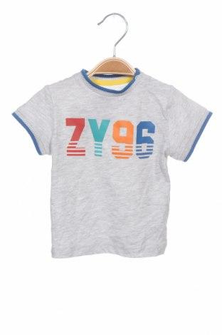 Детска тениска ZY kids, Размер 6-9m/ 68-74 см, Цвят Сив, 98% памук, 2% вискоза, Цена 19,50лв.