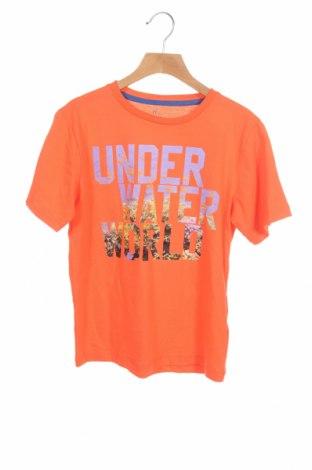 Детска тениска ZY kids, Размер 7-8y/ 128-134 см, Цвят Оранжев, Памук, Цена 19,50лв.