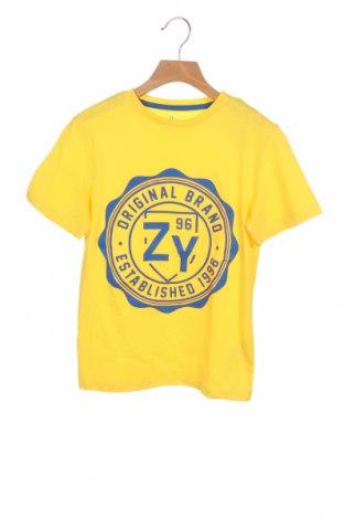 Детска тениска ZY kids, Размер 8-9y/ 134-140 см, Цвят Жълт, 100% памук, Цена 19,50лв.