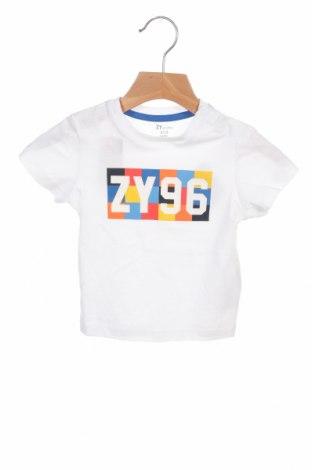 Детска тениска ZY kids, Размер 9-12m/ 74-80 см, Цвят Бял, Памук, Цена 19,50лв.