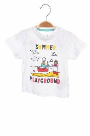 Детска тениска ZY kids, Размер 6-9m/ 68-74 см, Цвят Бял, Памук, Цена 19,50лв.