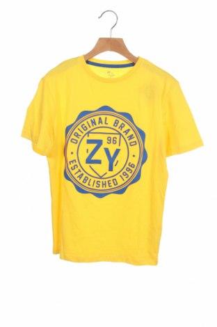 Детска тениска ZY kids, Размер 10-11y/ 146-152 см, Цвят Жълт, 100% памук, Цена 18,00лв.