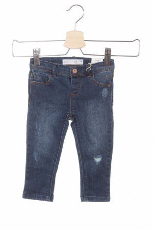 Παιδικά τζίν Zara, Μέγεθος 9-12m/ 74-80 εκ., Χρώμα Μπλέ, 78% βαμβάκι, 21% πολυεστέρας, 1% ελαστάνη, Τιμή 17,78€