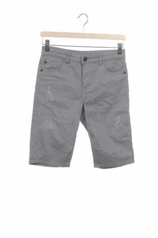 Pantaloni scurți pentru copii H&M, Mărime 11-12y/ 152-158 cm, Culoare Gri, 98% bumbac, 2% elastan, Preț 54,28 Lei