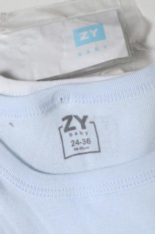 Παιδικό σύνολο ZY kids, Μέγεθος 18-24m/ 86-98 εκ., Χρώμα Μπλέ, 100% βαμβάκι, Τιμή 10,05€