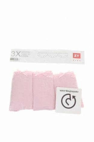 Детски комплект ZY kids, Размер 8-9y/ 134-140 см, Цвят Розов, 100% памук, Цена 16,38лв.