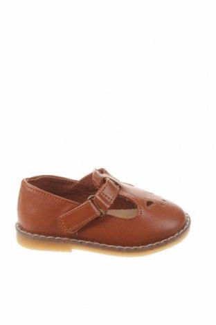 Детски обувки Zara, Размер 19, Цвят Кафяв, Еко кожа, Цена 44,25лв.